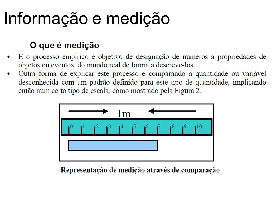 Informação e medição