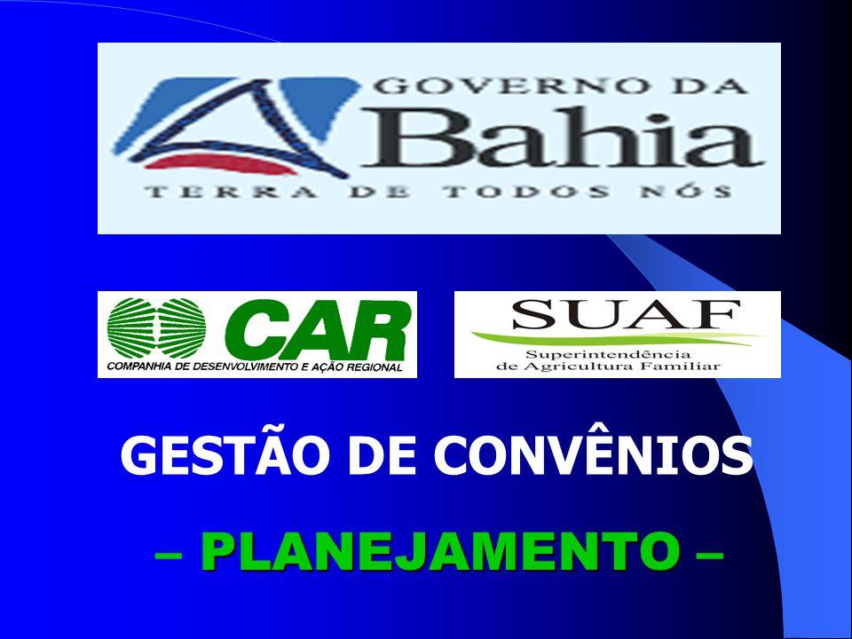GESTÃO DE CONVÊNIOS – PLANEJAMENTO –