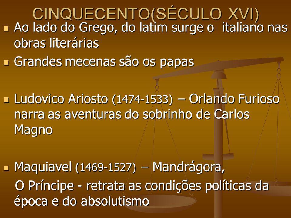 CINQUECENTO(SÉCULO XVI)