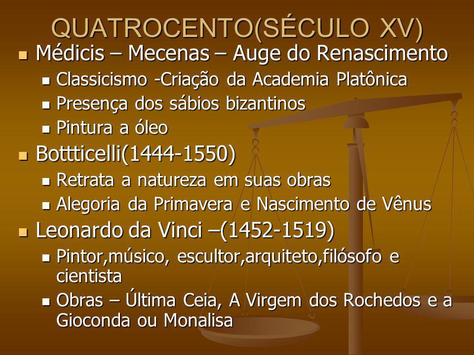 QUATROCENTO(SÉCULO XV)