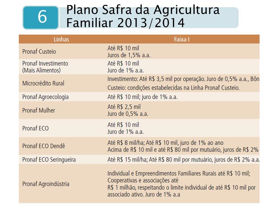 6 Plano Safra da Agricultura Familiar 2013/2014