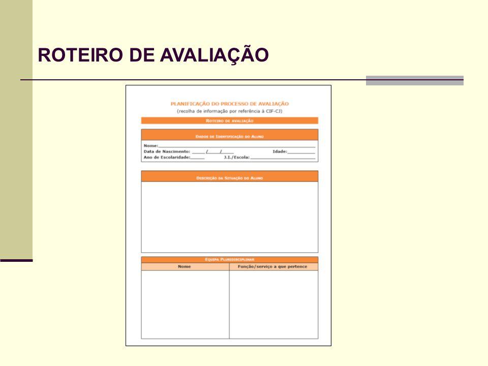 ROTEIRO DE AVALIAÇÃO