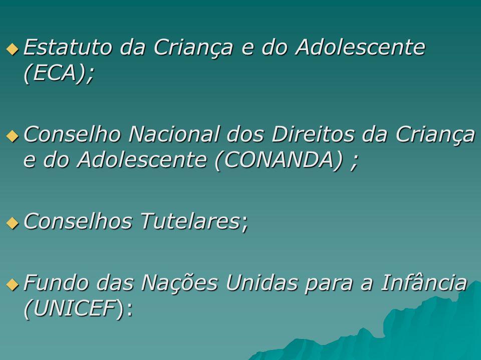 Estatuto da Criança e do Adolescente (ECA);