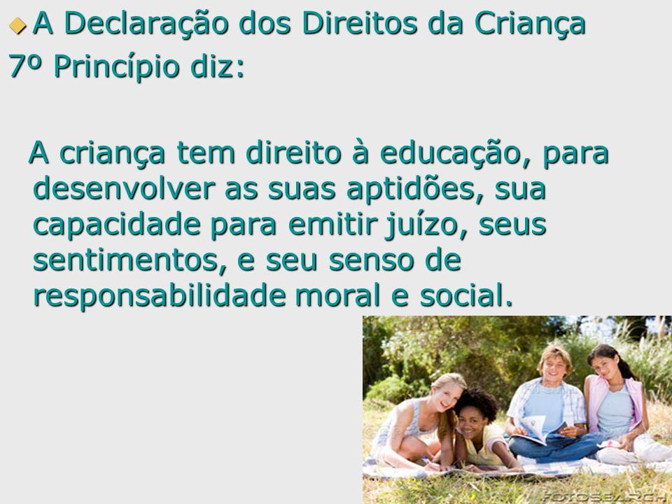 A Declaração dos Direitos da Criança