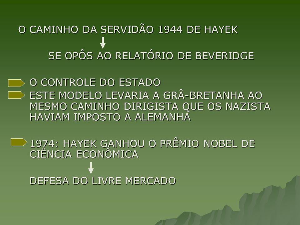 O CAMINHO DA SERVIDÃO 1944 DE HAYEK