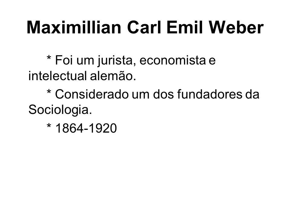 Maximillian Carl Emil Weber