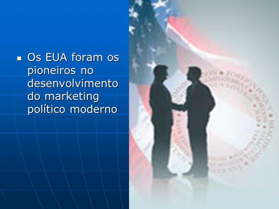 Os EUA foram os pioneiros no desenvolvimento do marketing político moderno