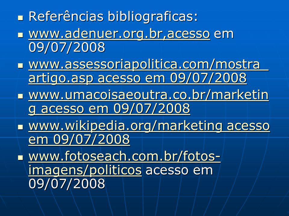 Referências bibliograficas: