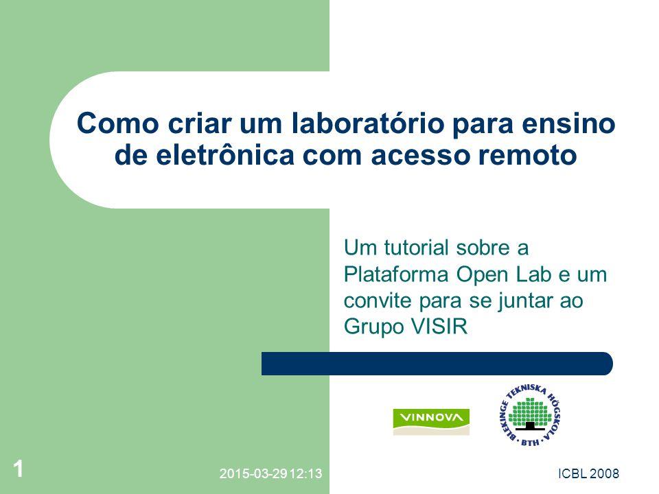 Como criar um laboratório para ensino de eletrônica com acesso remoto