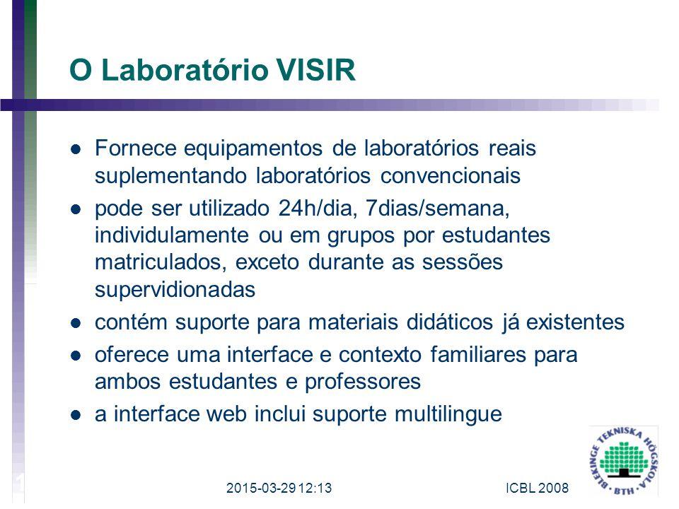 O Laboratório VISIR Fornece equipamentos de laboratórios reais suplementando laboratórios convencionais.