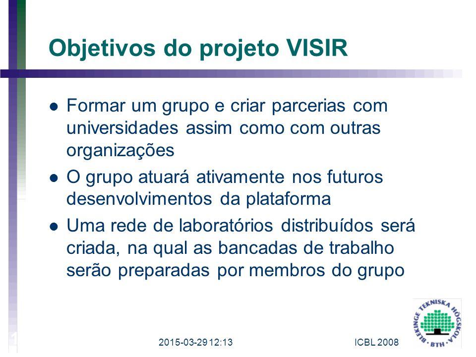 Objetivos do projeto VISIR