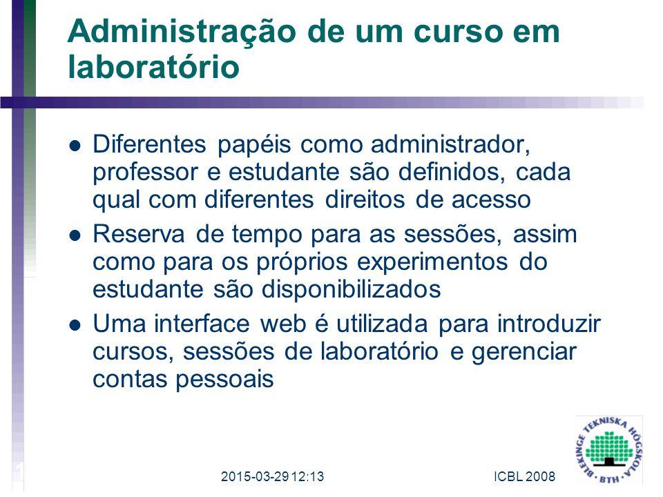 Administração de um curso em laboratório