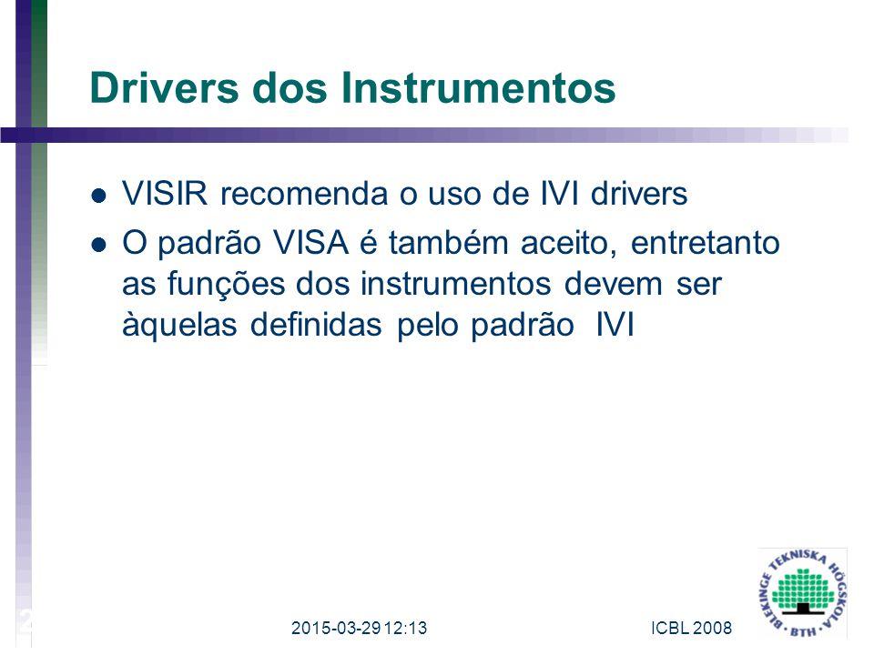 Drivers dos Instrumentos