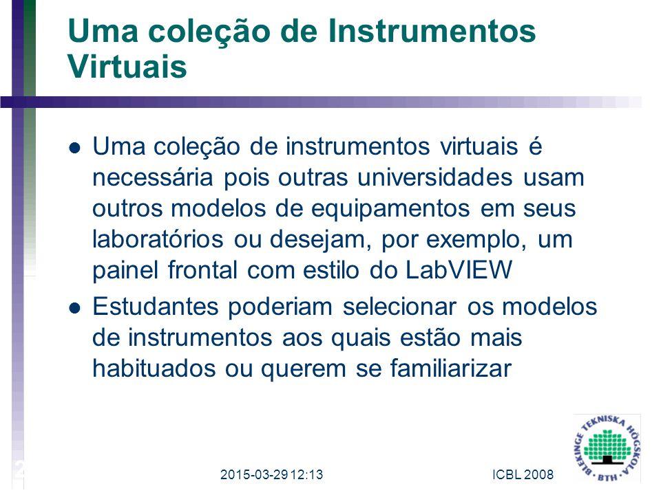 Uma coleção de Instrumentos Virtuais