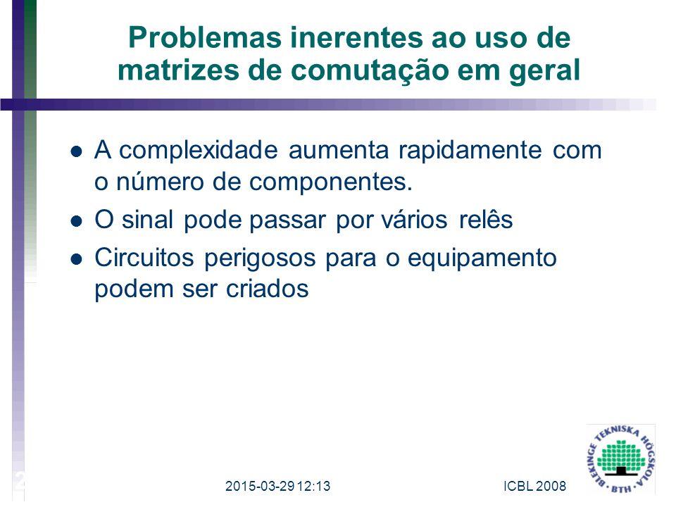 Problemas inerentes ao uso de matrizes de comutação em geral