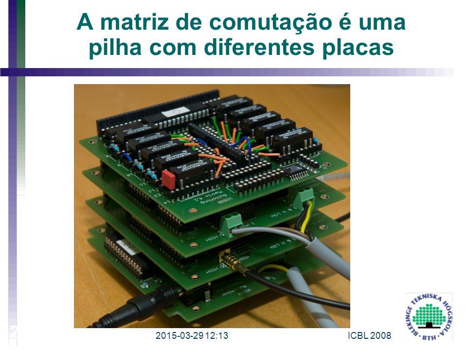 A matriz de comutação é uma pilha com diferentes placas