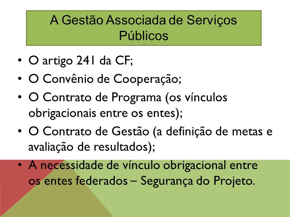 A Gestão Associada de Serviços Públicos