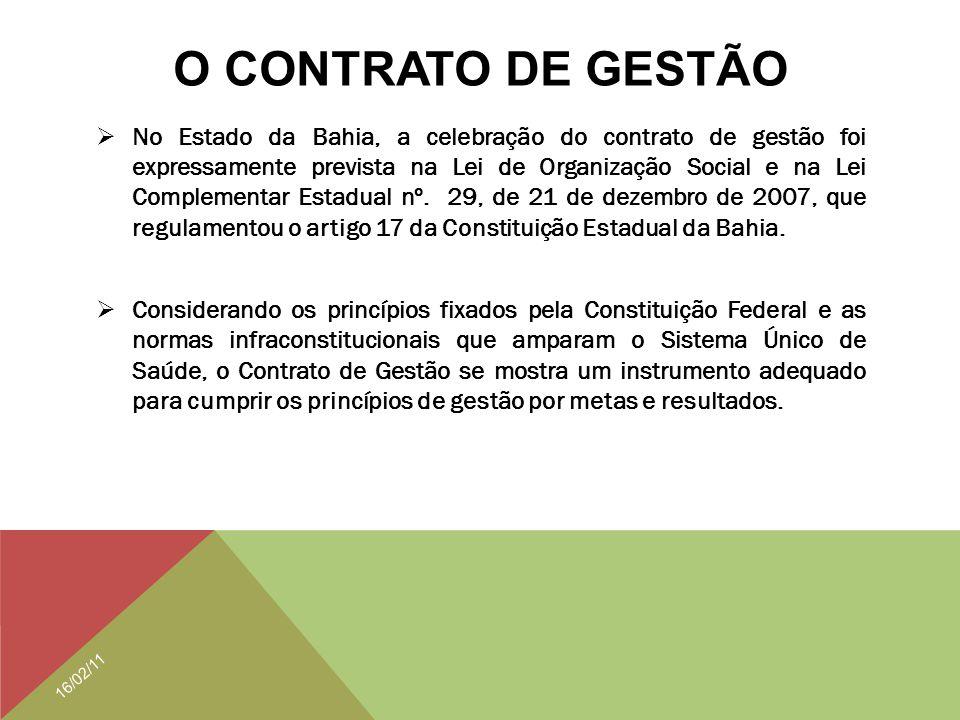 O CONTRATO DE GESTÃO
