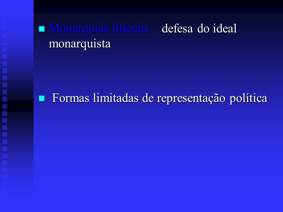 Monarquias liberais defesa do ideal monarquista