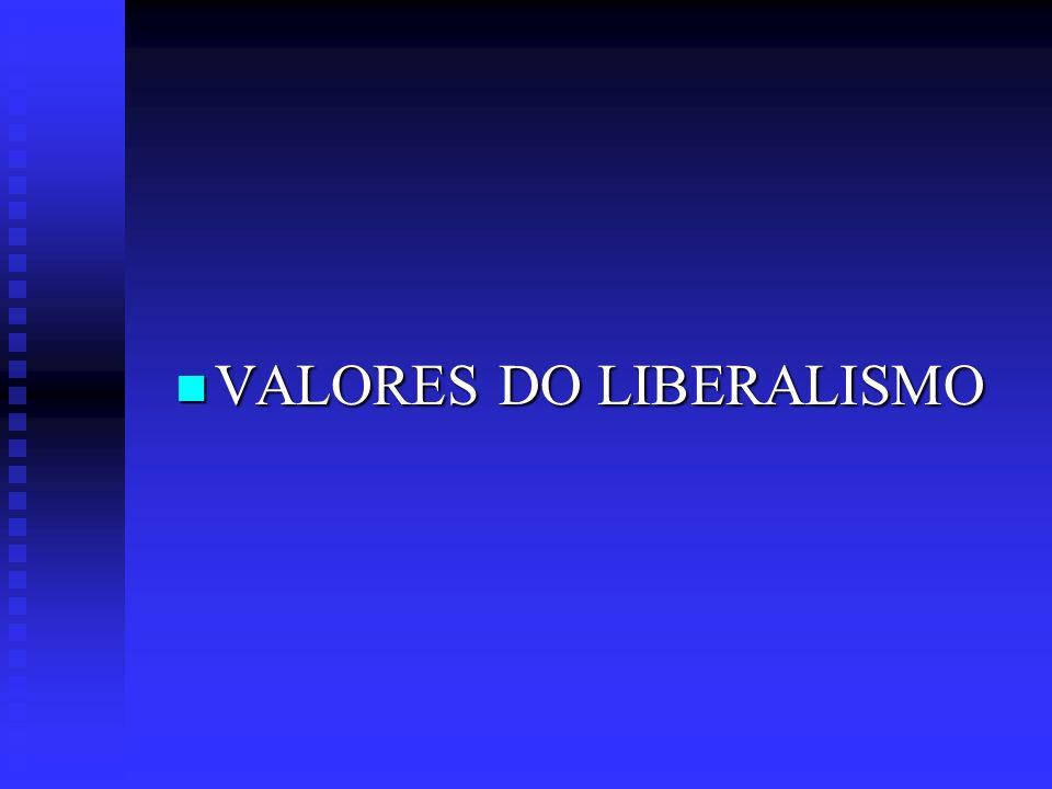 VALORES DO LIBERALISMO