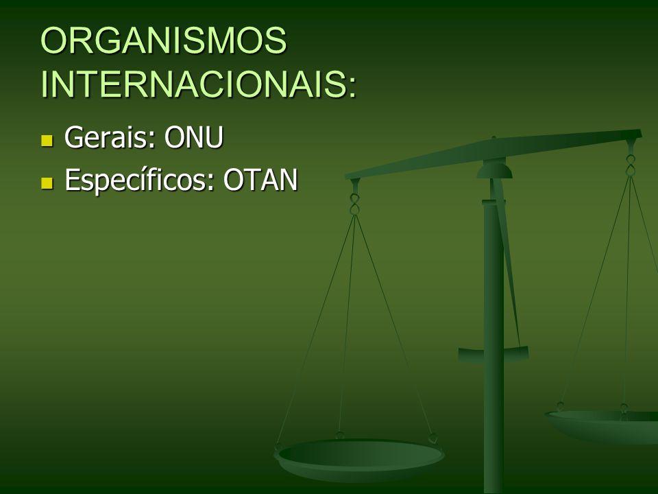 ORGANISMOS INTERNACIONAIS: