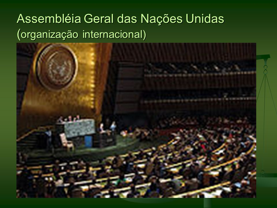 Assembléia Geral das Nações Unidas (organização internacional)