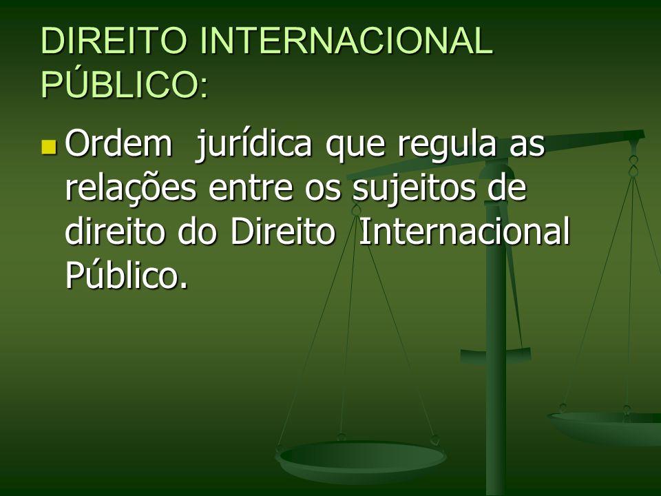 DIREITO INTERNACIONAL PÚBLICO: