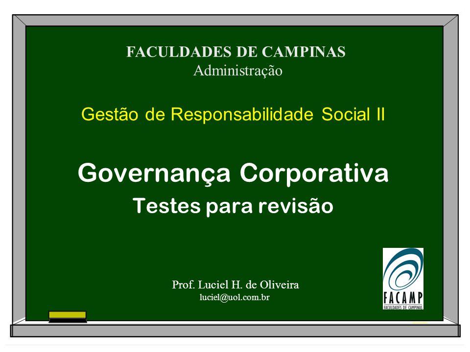 Gestão de Responsabilidade Social II