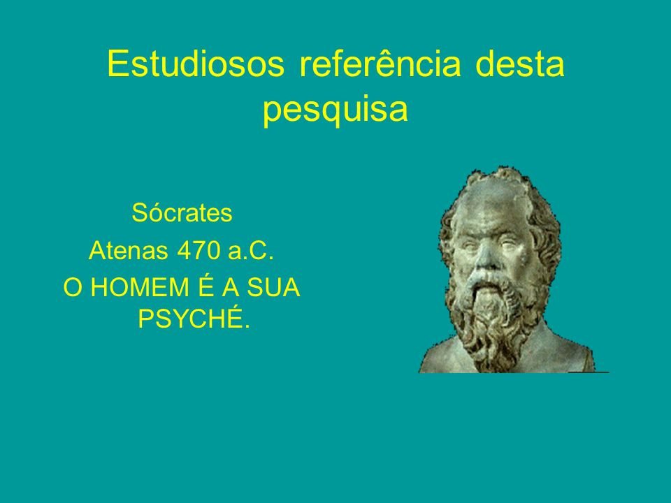Estudiosos referência desta pesquisa