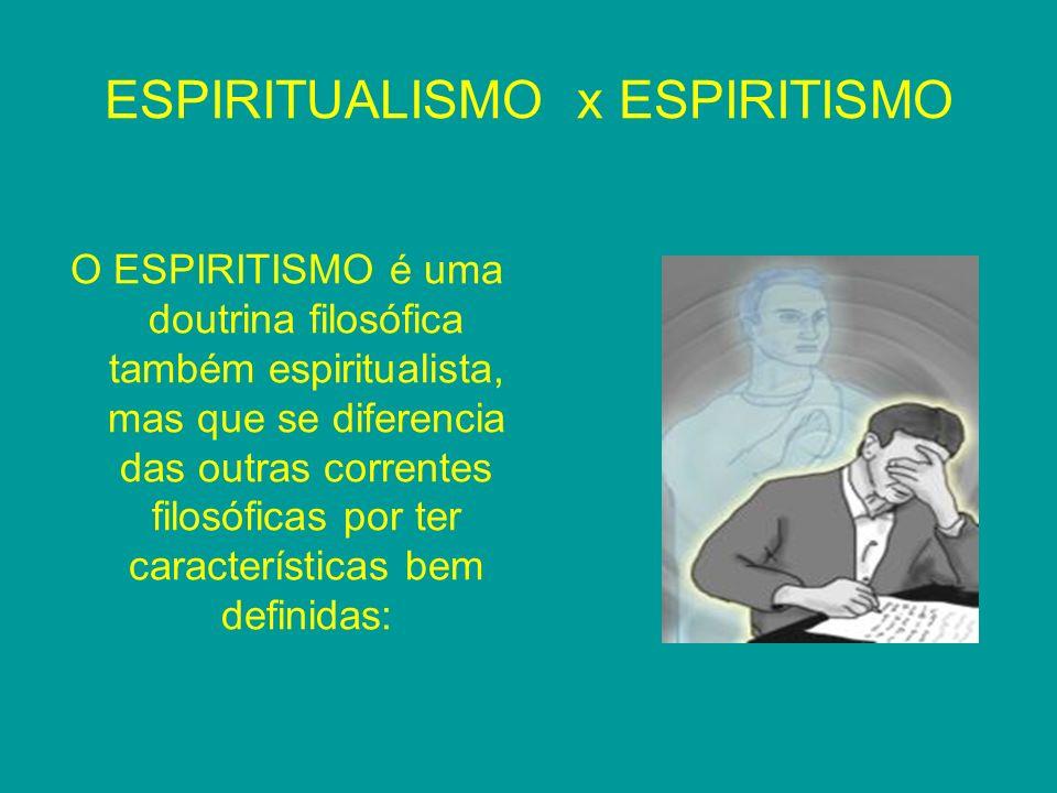 ESPIRITUALISMO x ESPIRITISMO