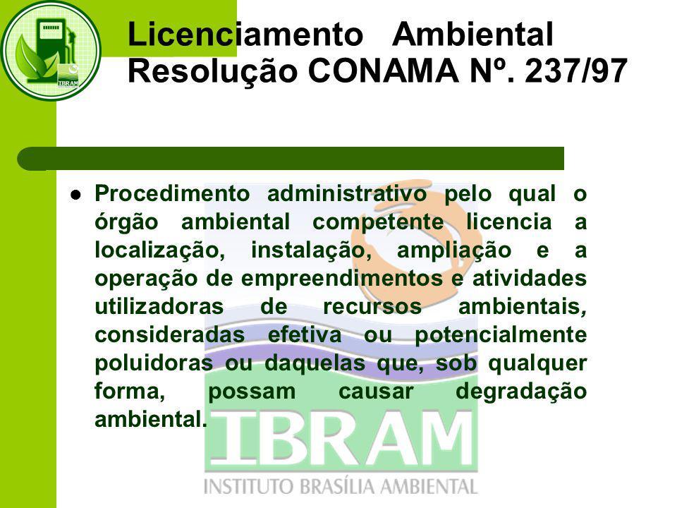 Licenciamento Ambiental Resolução CONAMA Nº. 237/97