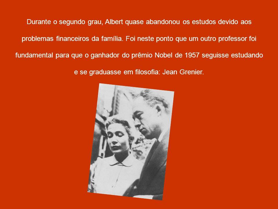Durante o segundo grau, Albert quase abandonou os estudos devido aos problemas financeiros da família.