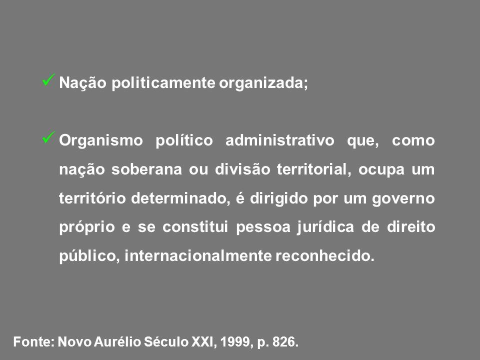 Nação politicamente organizada;