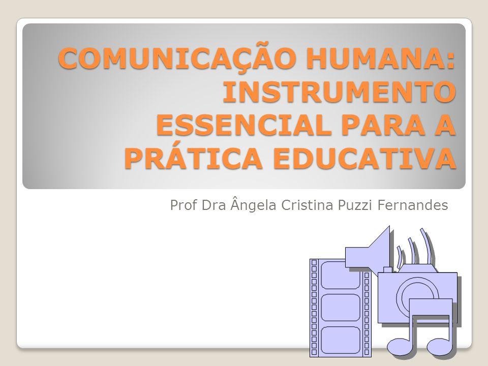COMUNICAÇÃO HUMANA: INSTRUMENTO ESSENCIAL PARA A PRÁTICA EDUCATIVA