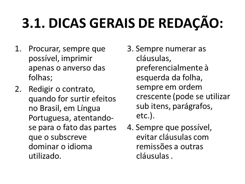 3.1. DICAS GERAIS DE REDAÇÃO: