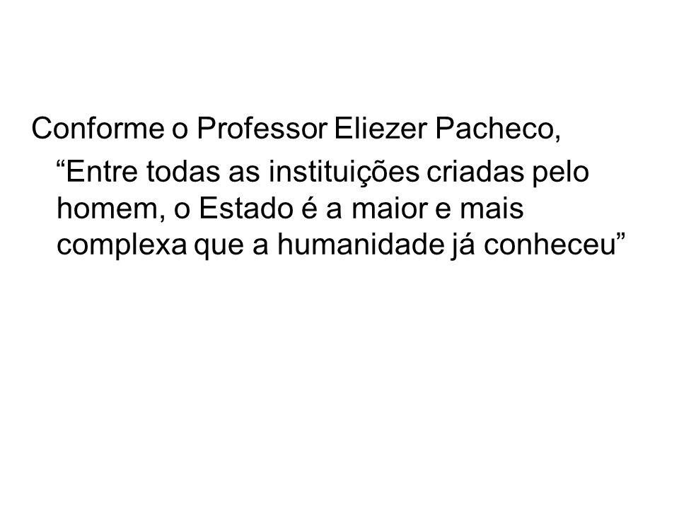 Conforme o Professor Eliezer Pacheco,