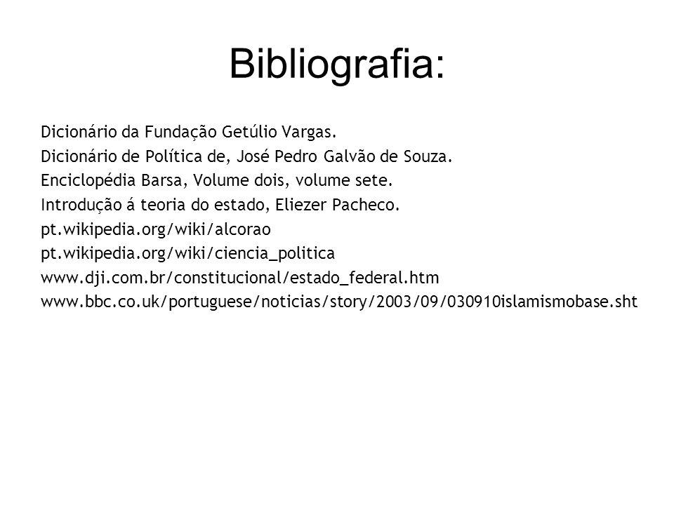 Bibliografia: Dicionário da Fundação Getúlio Vargas.