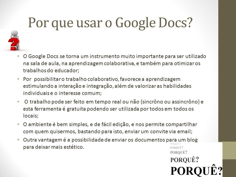 Por que usar o Google Docs