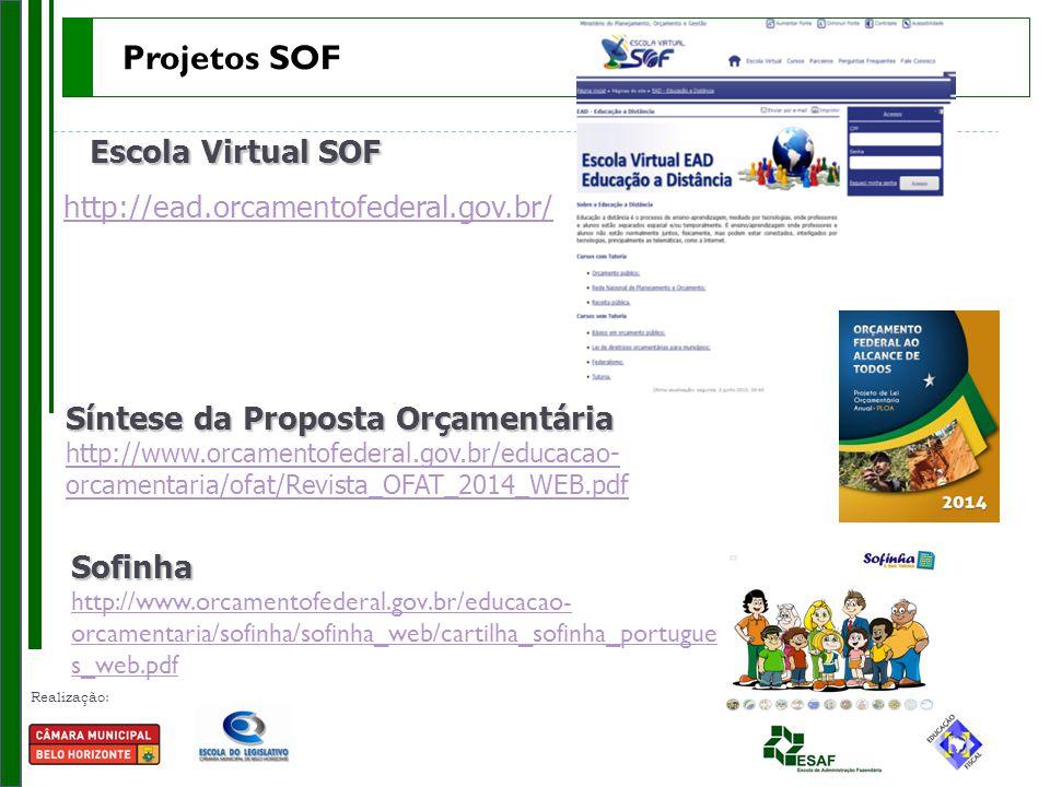 Projetos SOF Escola Virtual SOF