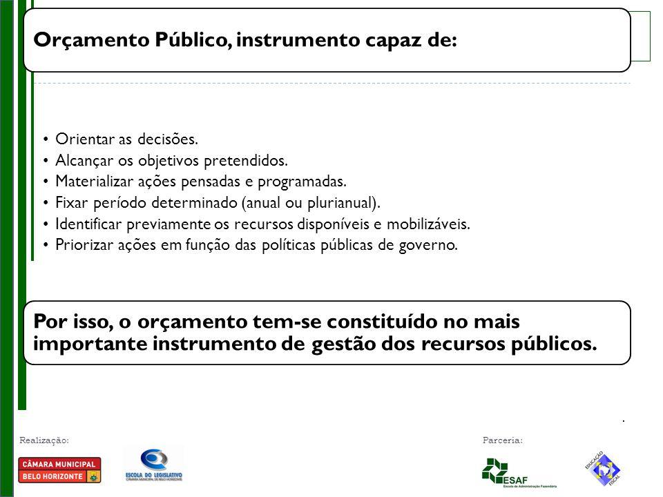 Orçamento Público, instrumento capaz de: