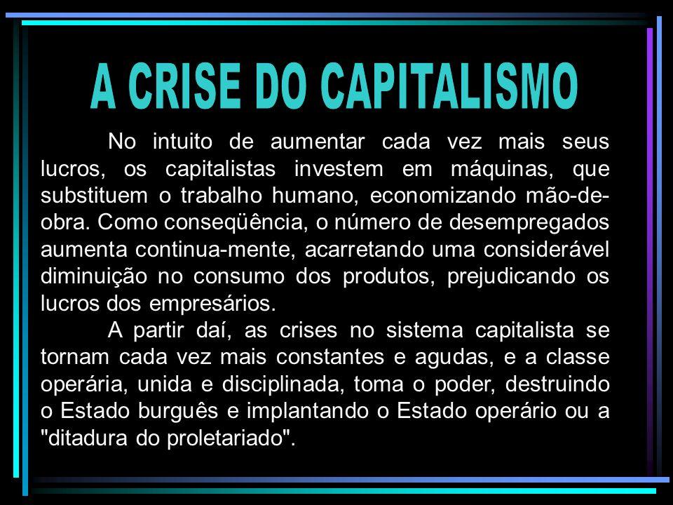 A CRISE DO CAPITALISMO