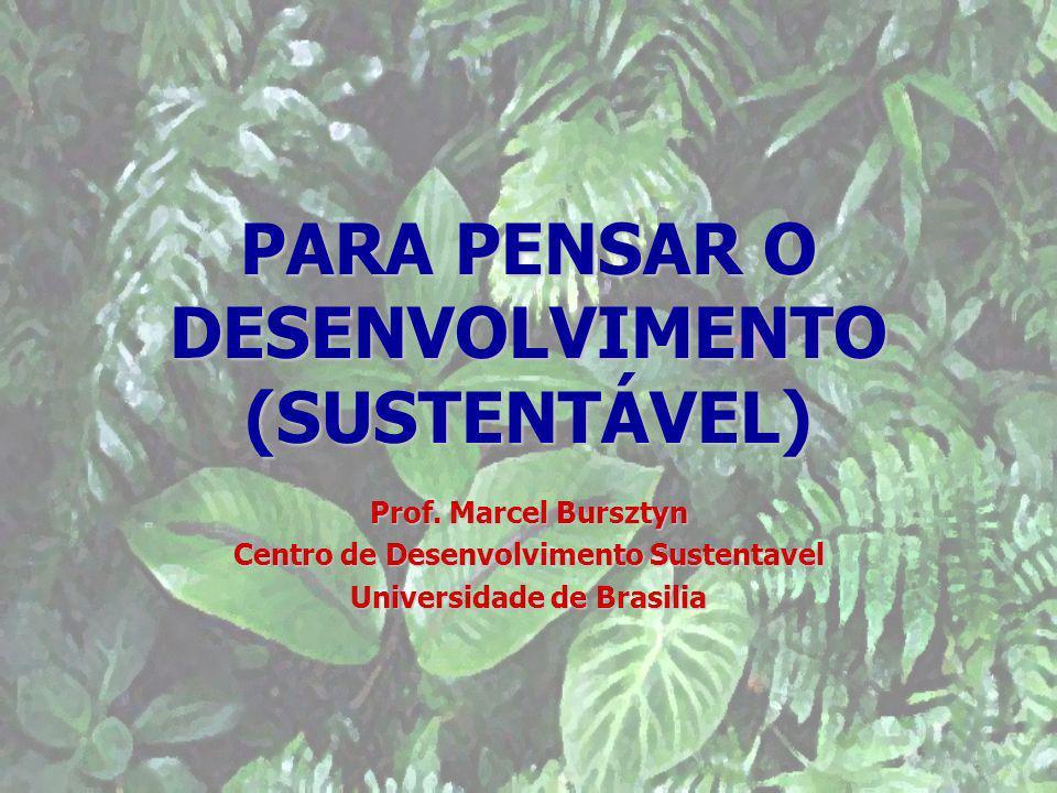 PARA PENSAR O DESENVOLVIMENTO (SUSTENTÁVEL)