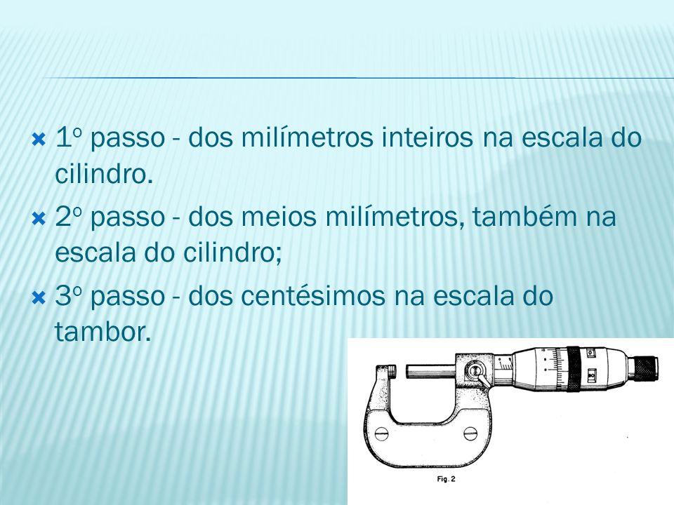 1o passo - dos milímetros inteiros na escala do cilindro.
