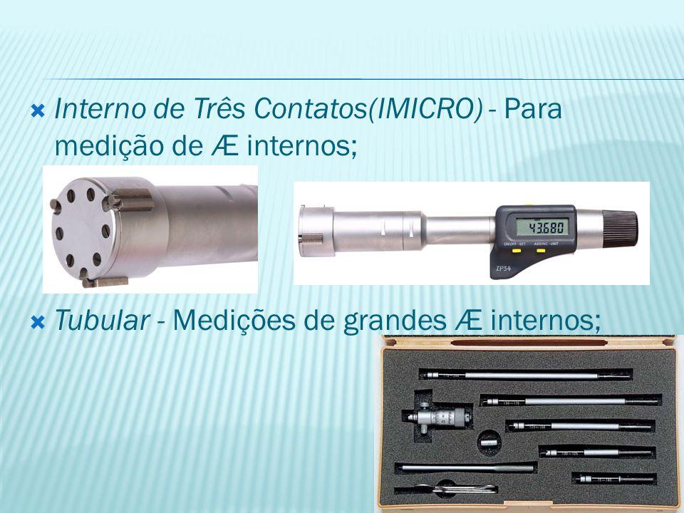 Interno de Três Contatos(IMICRO) - Para medição de Æ internos;
