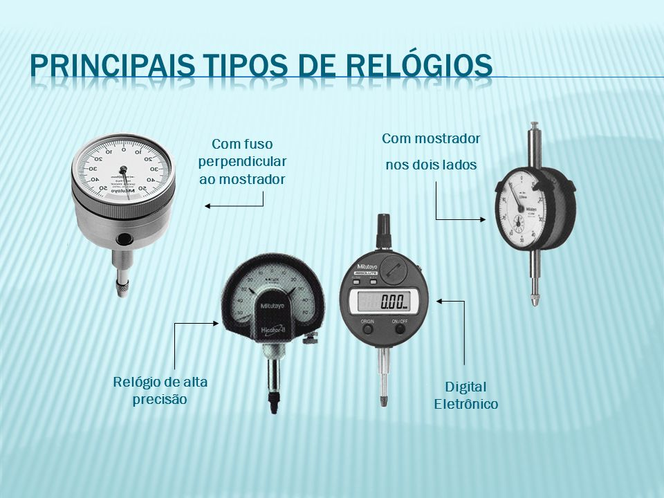 Principais tipos de relógios