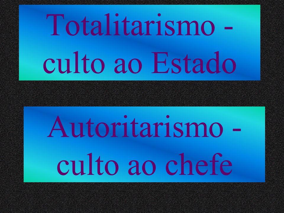 Totalitarismo - culto ao Estado