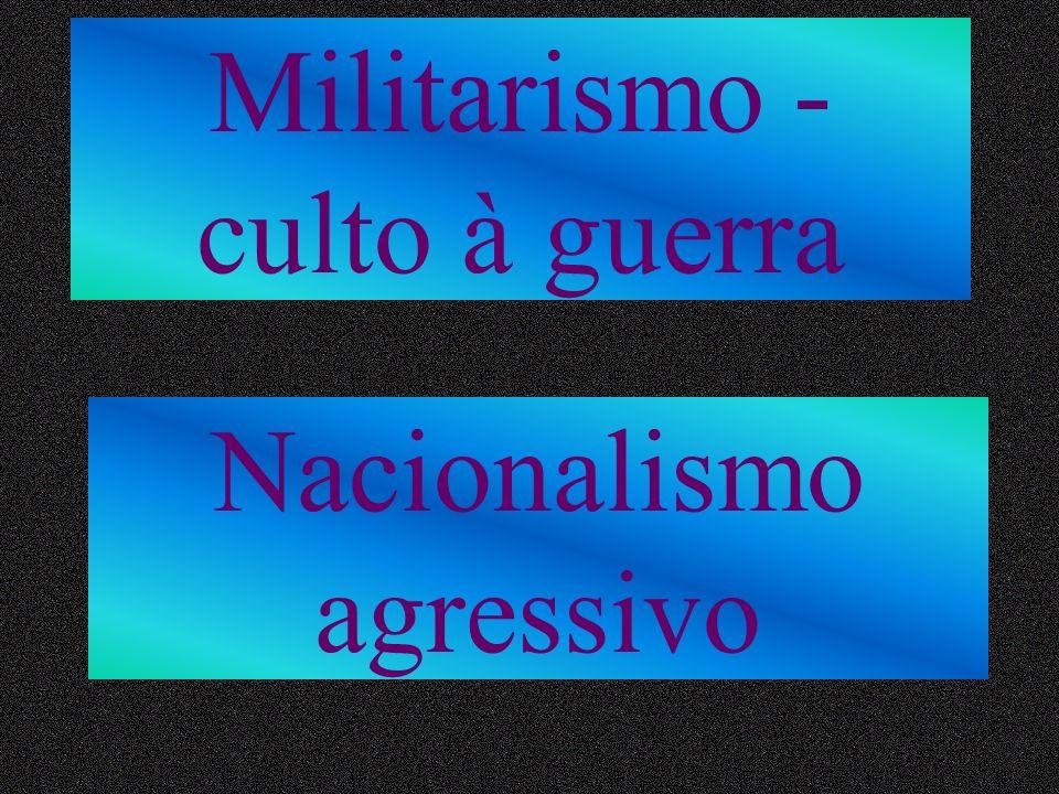 Militarismo - culto à guerra