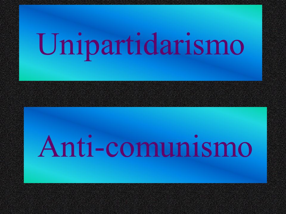 Unipartidarismo Anti-comunismo