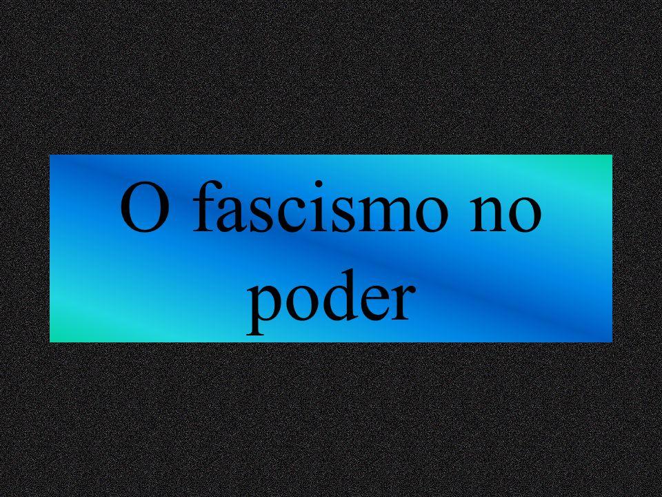 O fascismo no poder