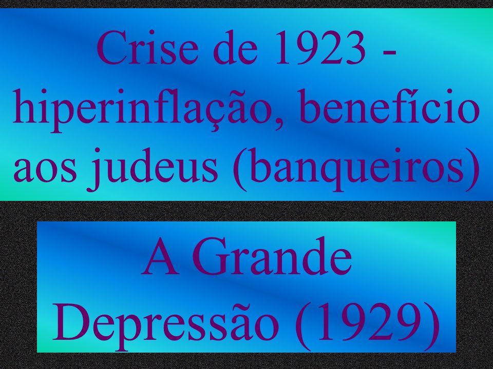 Crise de 1923 - hiperinflação, benefício aos judeus (banqueiros)